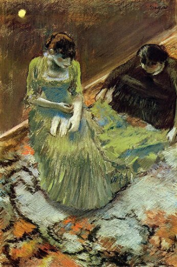 edgar degas before the curtain call painting