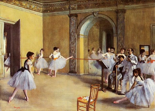 edgar degas dance class at the opera painting
