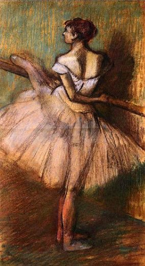 edgar degas dancer at the barre ii painting
