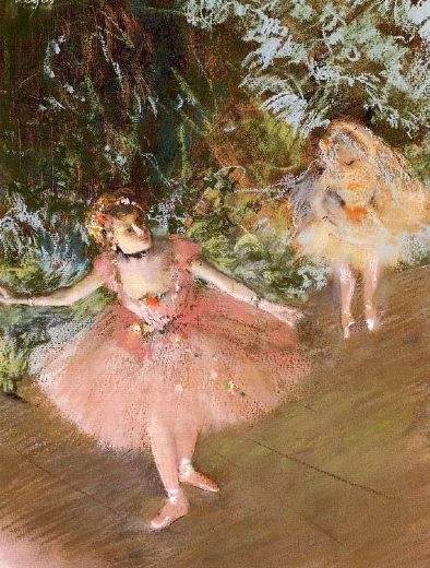 edgar degas dancer on stage painting