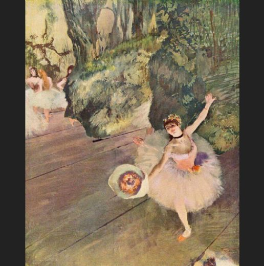edgar degas dancer with a bouquet of flowers paintings