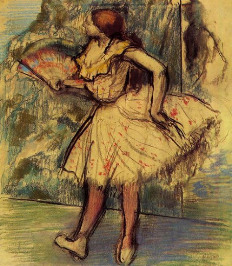 edgar degas dancer with a fan ii painting