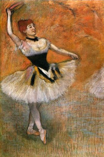 edgar degas dancer with a tambourine painting