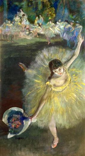 edgar degas end of an arabesque painting