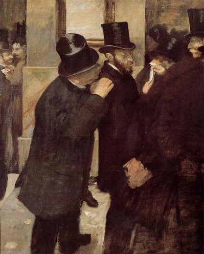 edgar degas portraits at the stock exchange painting