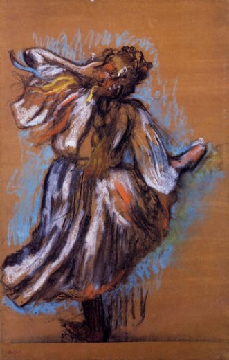 edgar degas russian dancer ii painting