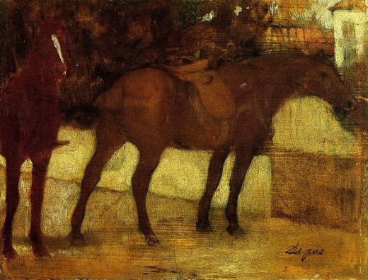 edgar degas study of horses paintings