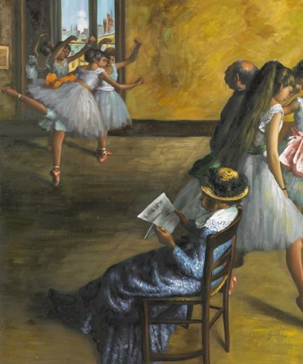 edgar degas the ballet class paintings