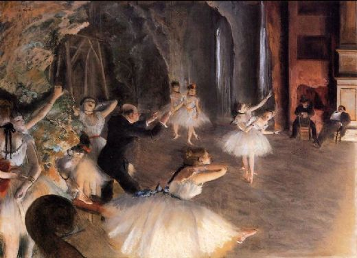 edgar degas the rehearsal on stage painting
