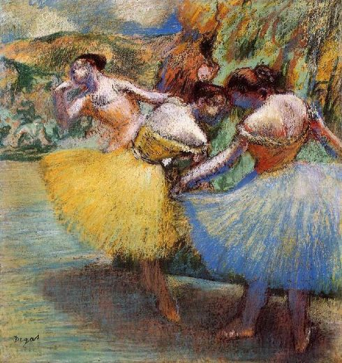 edgar degas three dancers ii painting