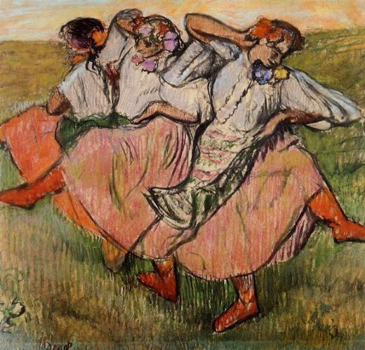 edgar degas three russian dancers paintings