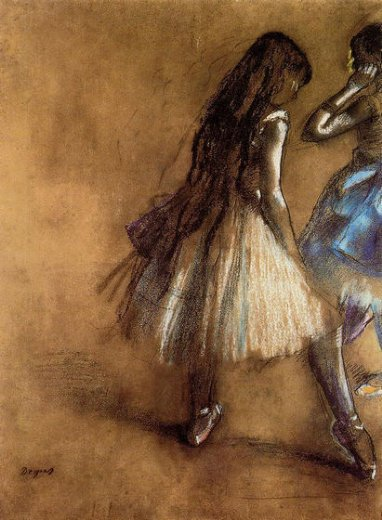 edgar degas two dancers ii painting