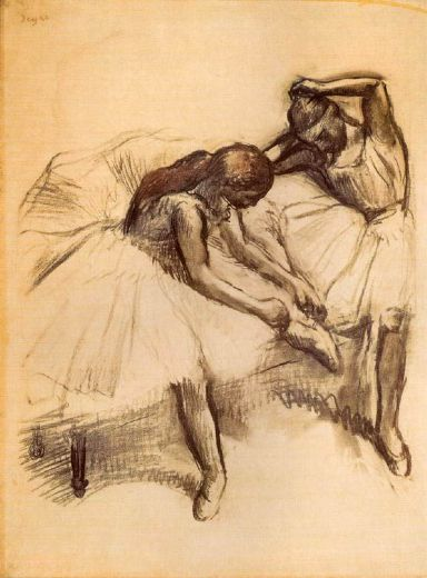 edgar degas two dancers v painting
