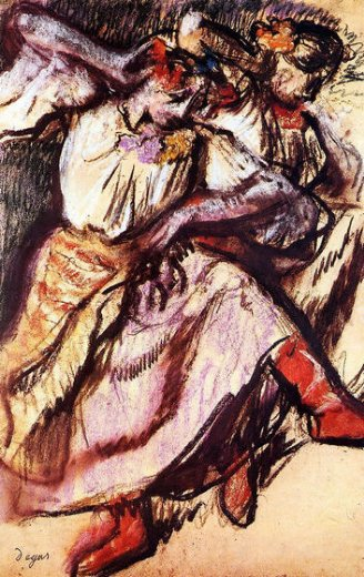 edgar degas two russian dancers paintings