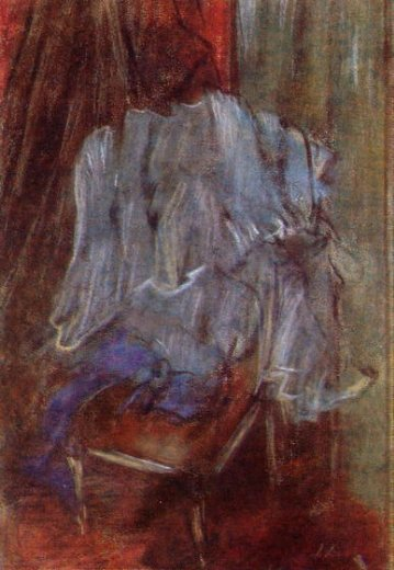 edgar degas vestment on a chair paintings