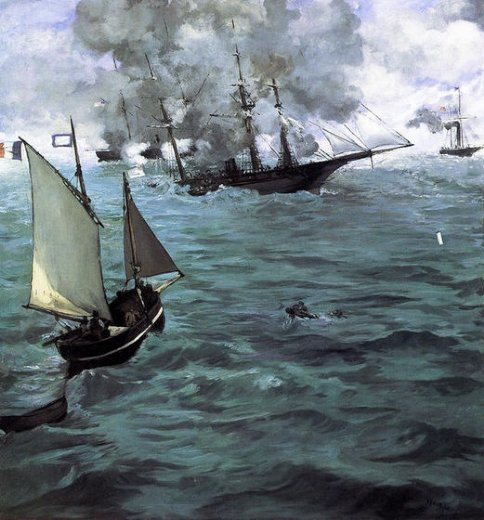 edouard manet battle of the kearsarge and the alabama paintings