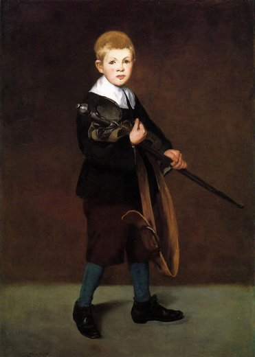 edouard manet boy with a sword painting
