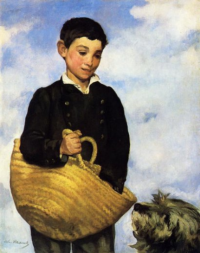 edouard manet boy with dog paintings