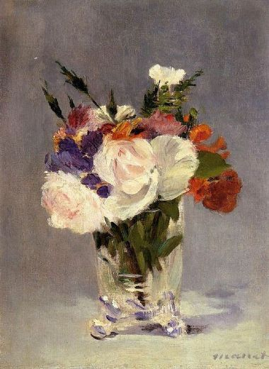 edouard manet flowers in a crystal vase i oil painting