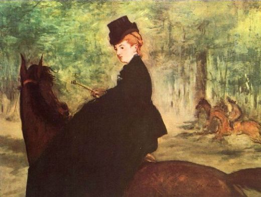 edouard manet the horsewoman painting