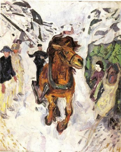 edvard munch horse galloping 1912 paintings