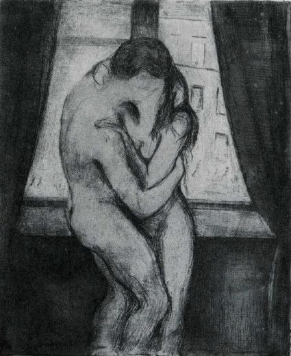 edvard munch the kiss 1895 painting