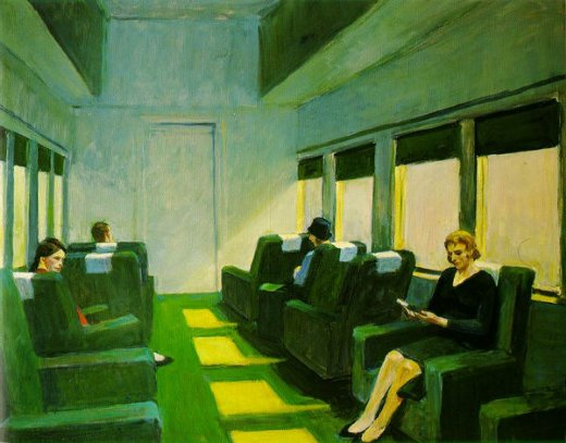 edward hopper chair oil painting
