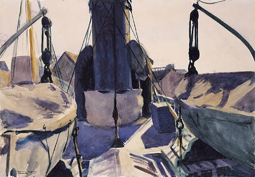 edward hopper funell of trawler paintings