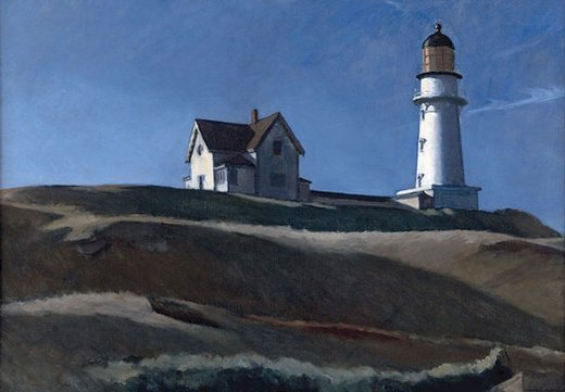 edward hopper lighthouse hill oil painting