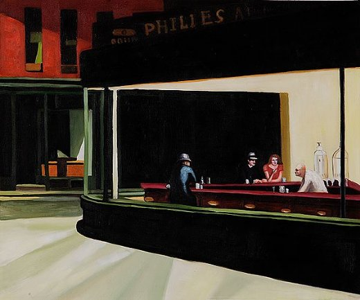 edward hopper night hawks 1942 painting