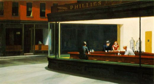 edward hopper nighthawks paintings