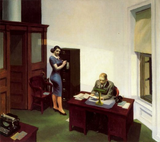 edward hopper office at night painting