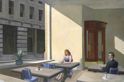 edward hopper sunlights in cafeteria oil painting