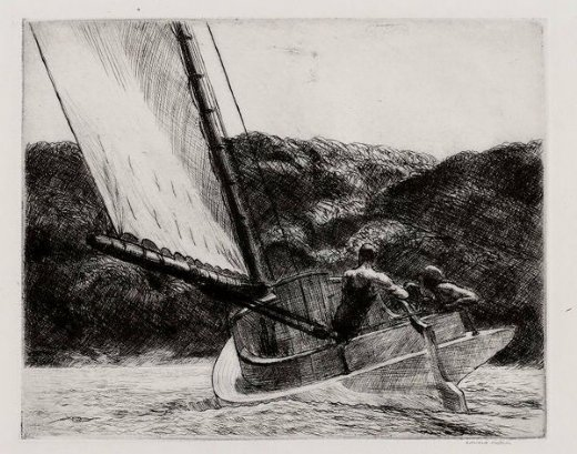 edward hopper the cat boat painting
