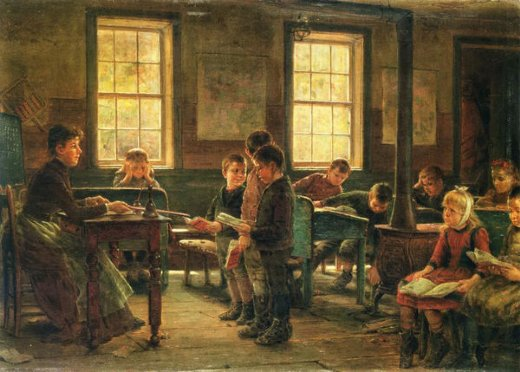 edward lamson henry a country school paintings