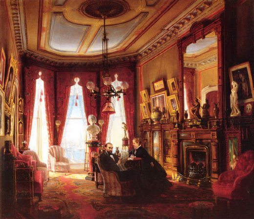 edward lamson henry parlor on brooklyn heights of mr. and mrs. john ballard paintings