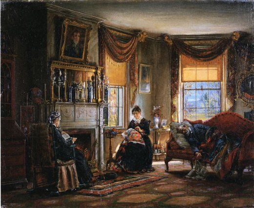 edward lamson henry the sitting room painting