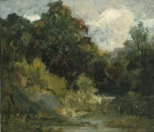 edward mitchell bannister landscape (trees) painting