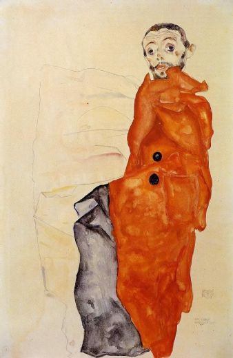egon schiele i love antitheses oil painting