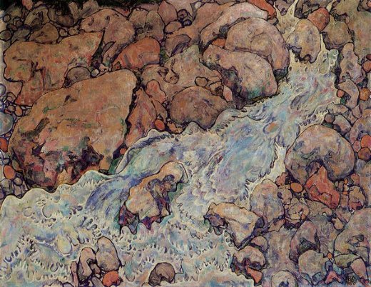 egon schiele mountain torrent painting