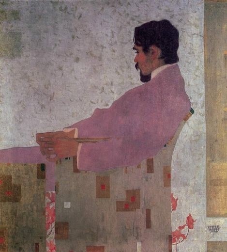 egon schiele portrait of the painter anton peschka painting