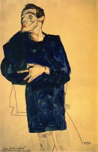 egon schiele rufer paintings