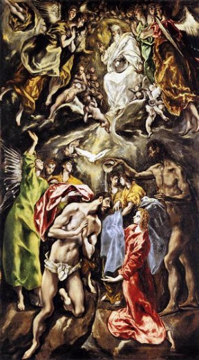 el greco the baptism of christ painting