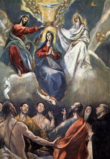 el greco the coronation of the virgin ii painting