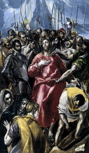 el greco the disrobing of christ el espolio ii painting