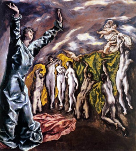 el greco the opening of the fifth seal the vision of st john painting