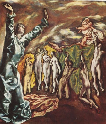 el greco the opening of the fifth seal painting
