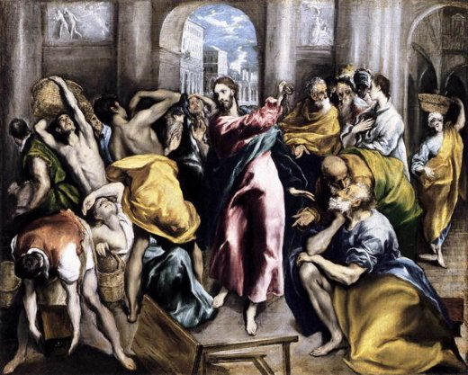 el greco the purification of the temple iii painting