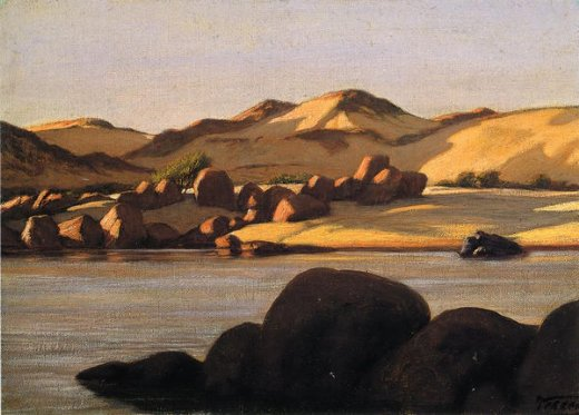 elihu vedder egyptian nile oil painting