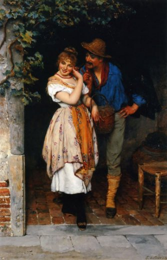 eugene de blaas the suitor painting